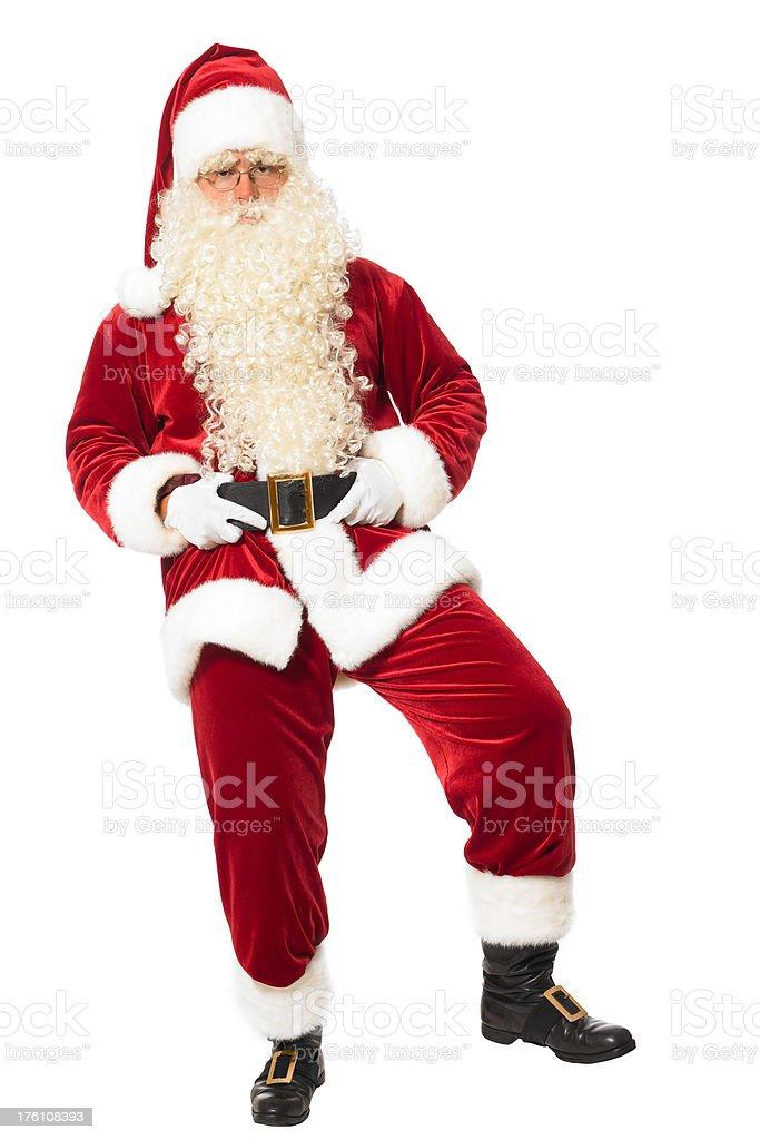 Santa sitting on something royalty-free stock photo