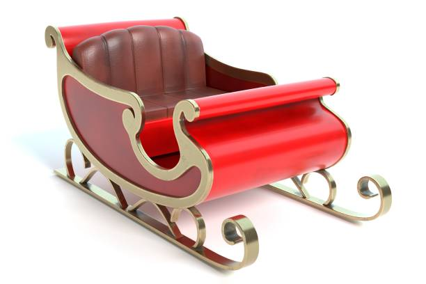 Santa Sleigh 3d illustration of a Santa Sleigh sled stock pictures, royalty-free photos & images