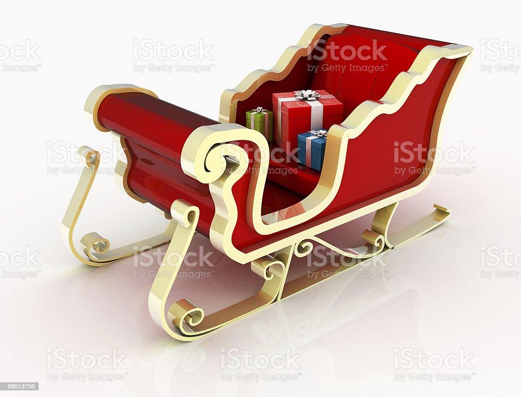 Santa Sleigh royalty-free stock photo