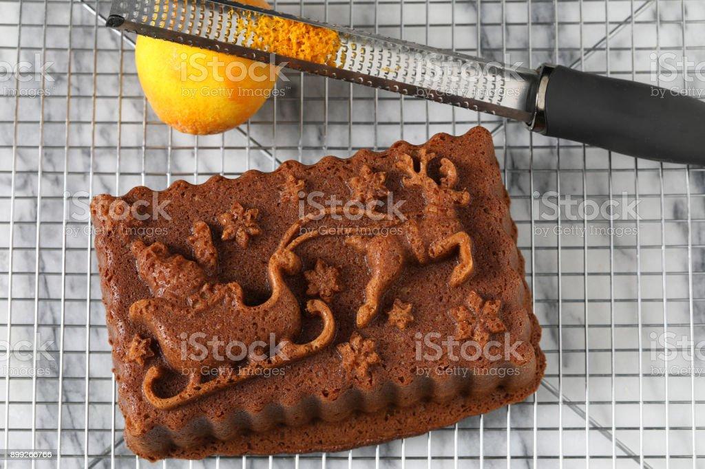 Santa Spice Cake Loaf stock photo