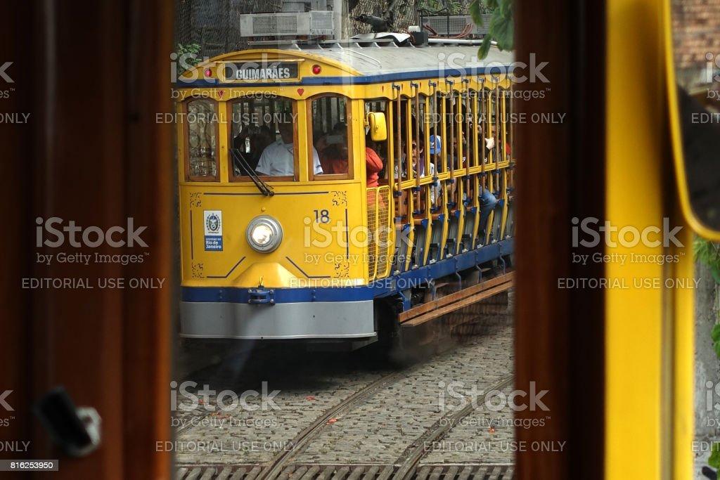 Santa Teresa Tram stock photo