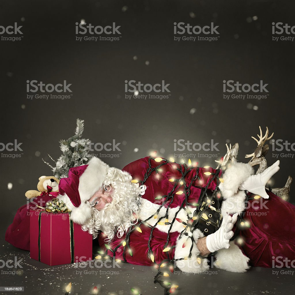 Santa tied up stock photo
