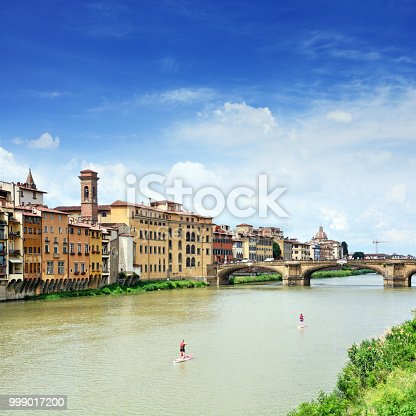 The Ponte Santa Trinita is a renaissance bridge in Florence, Italy. Composite photo