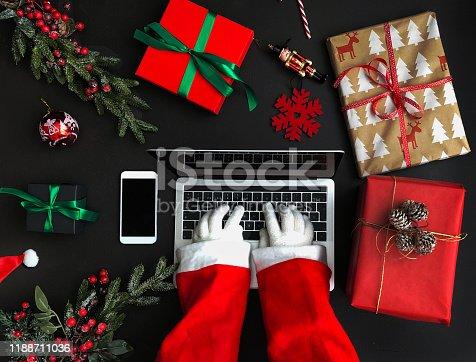 Santa, online, shopping, winter, papa, noel,cyber, monday, sale,xmas, black , friday