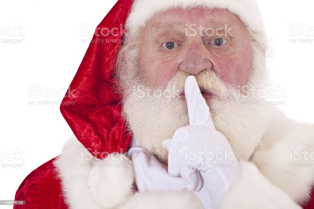 Santa wants you to keep the secret royalty-free stock photo