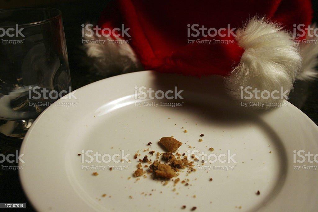 Santa was here. stock photo
