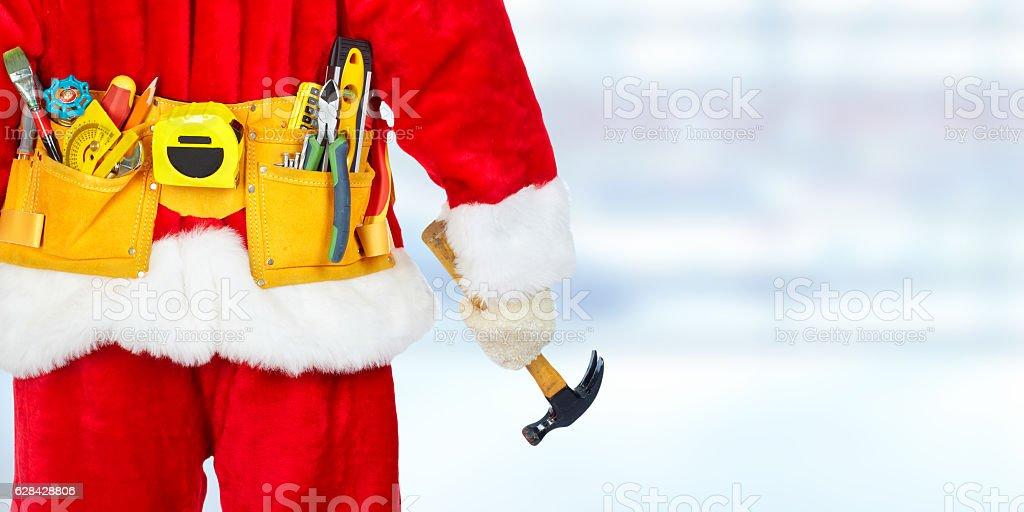 Santa with construction tools – Foto