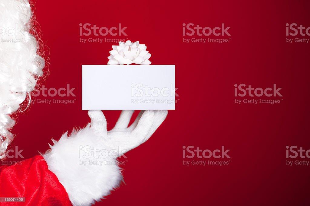 Santa with gift royalty-free stock photo