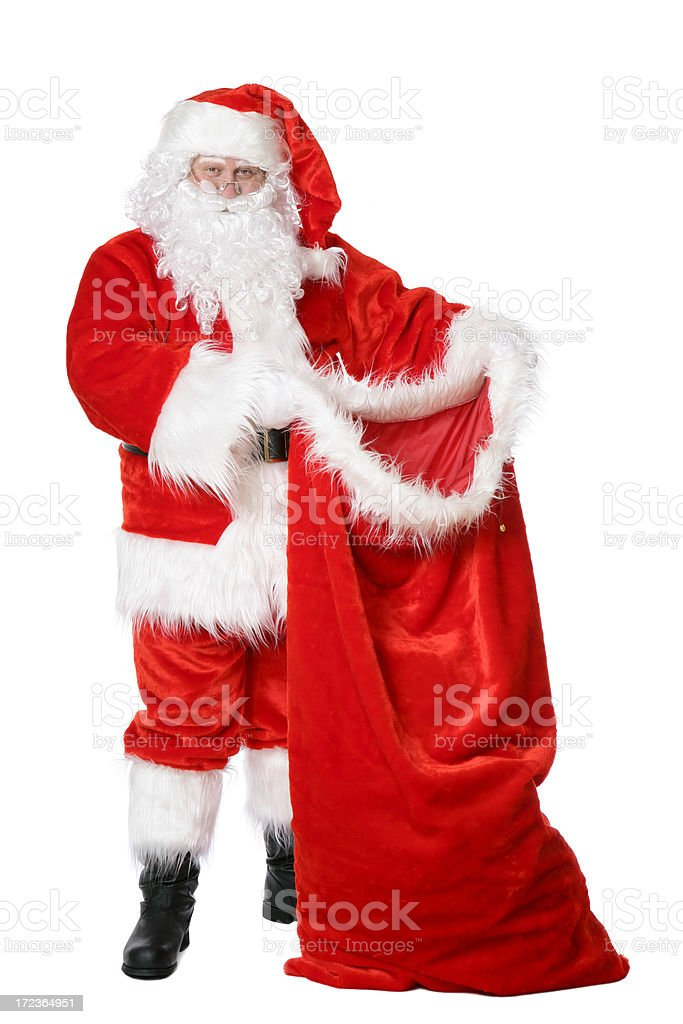 Santa with his sack royalty-free stock photo