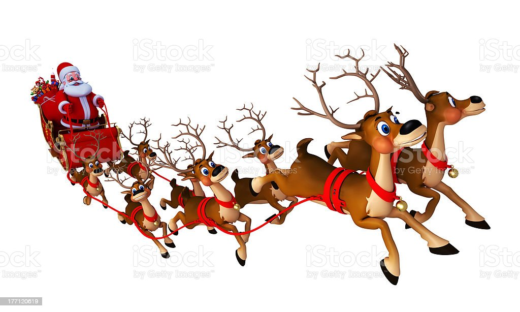 Santa With His Sleigh Stock Photo - Download Image Now ...