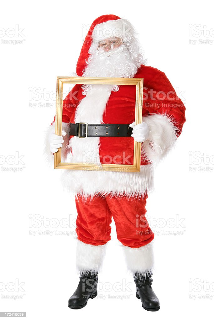 Santa with picture frame royalty-free stock photo