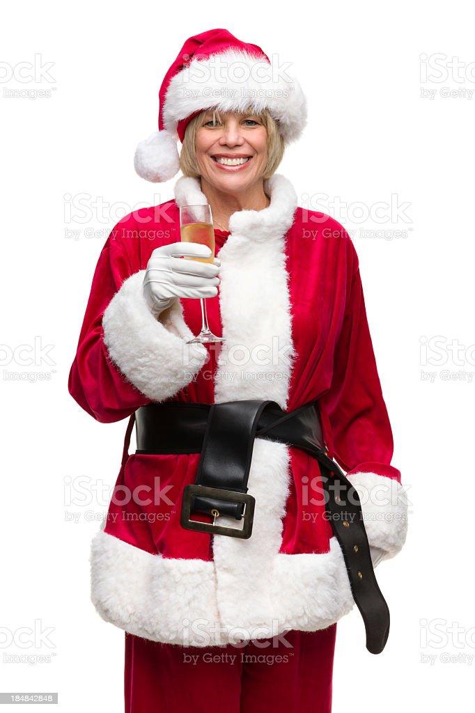 Санта зрелая женщина