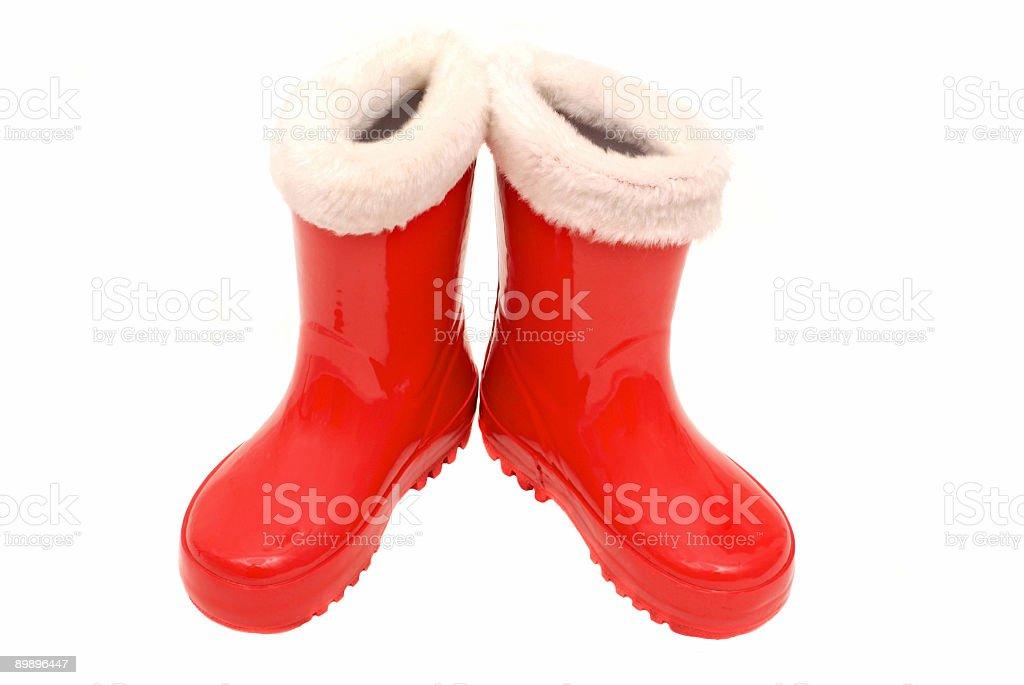 Ботинки Santa's красный Стоковые фото Стоковая фотография