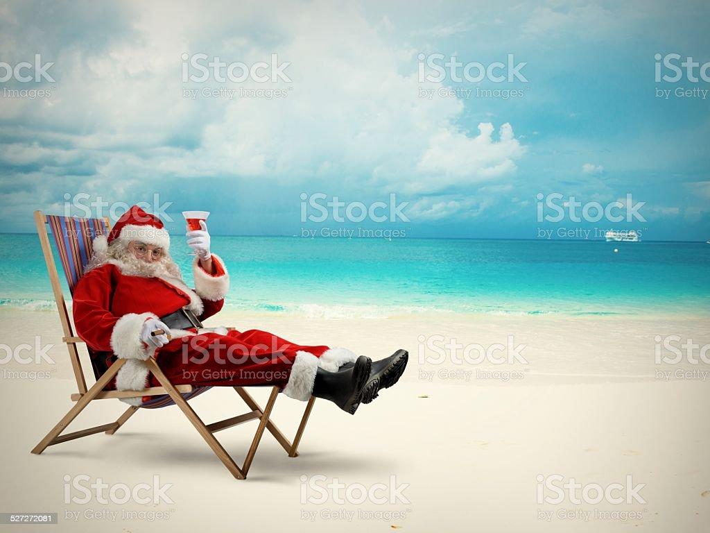 Santaclaus vacation stock photo