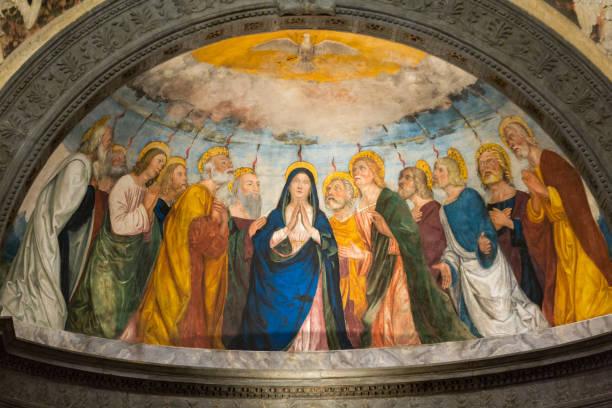 Sant'Anastasia Church in Verona, Italy. stock photo