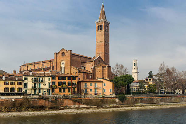 Sant'Anastasia in Verona, Italy The church of Sant'Anastasia in the old town of Verona artistical stock pictures, royalty-free photos & images