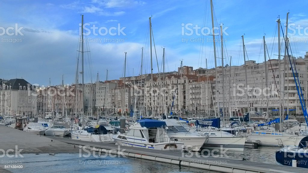 Santander and the port stock photo