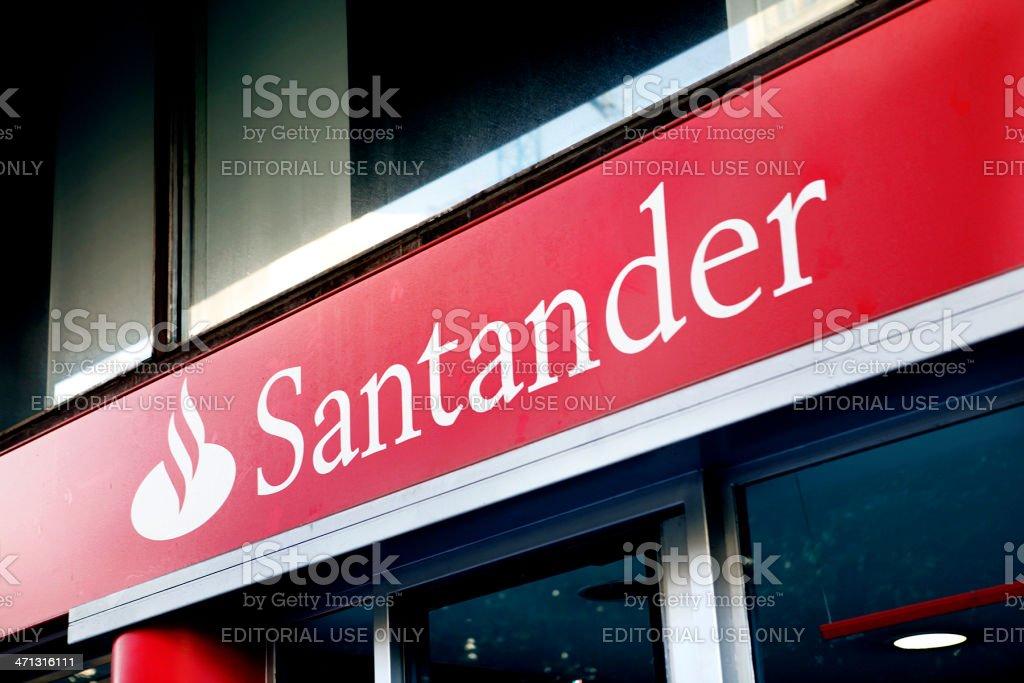 Banco Santander - foto de stock