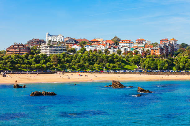 Santander city aerial view, Spain Santander city aerial panoramic view. Santander is the capital of the Cantabria region in Spain santander spain stock pictures, royalty-free photos & images