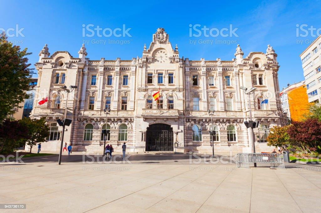 Santander City Hall building or Ayuntamiento de Santander in...