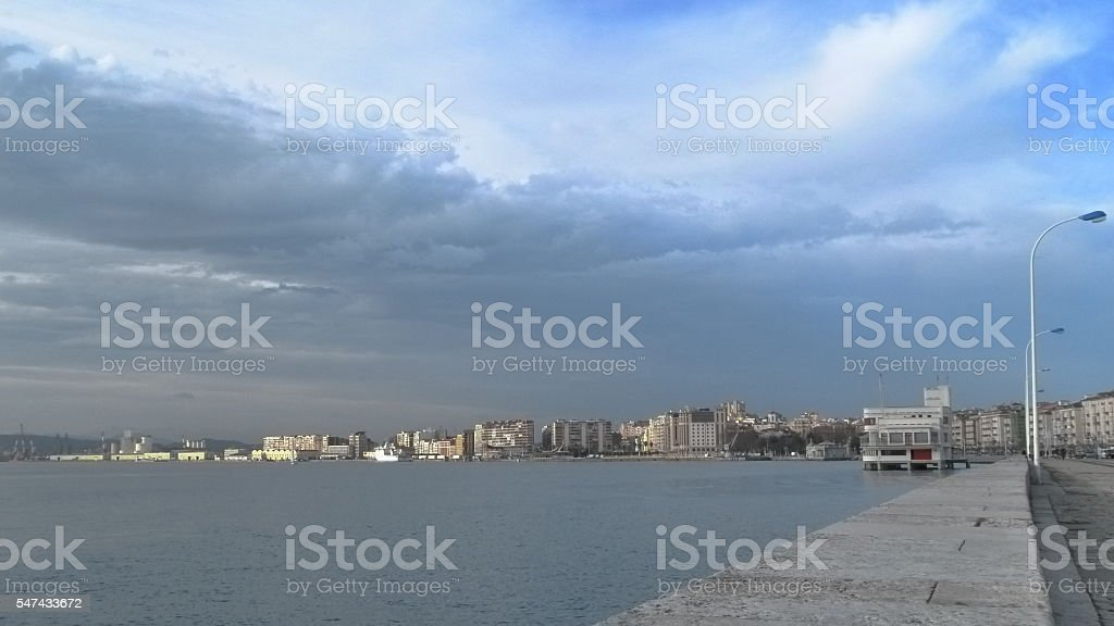 Santander, coastal city stock photo