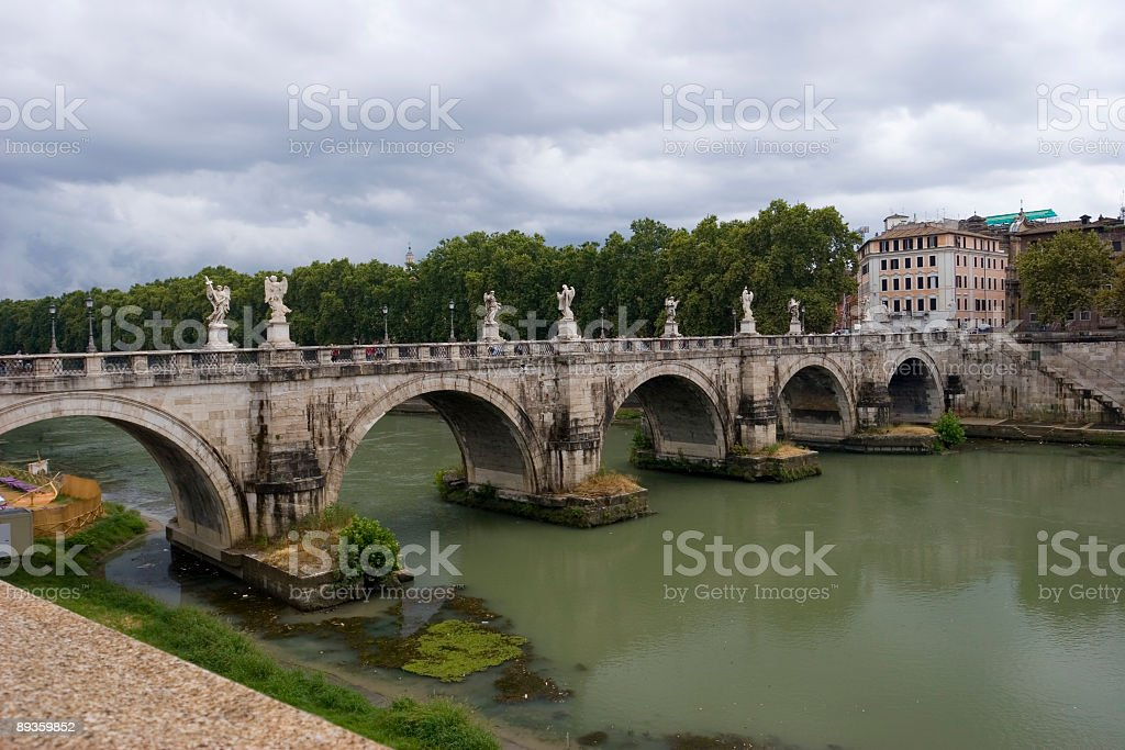 Ponte Sant'Angelo foto stock royalty-free