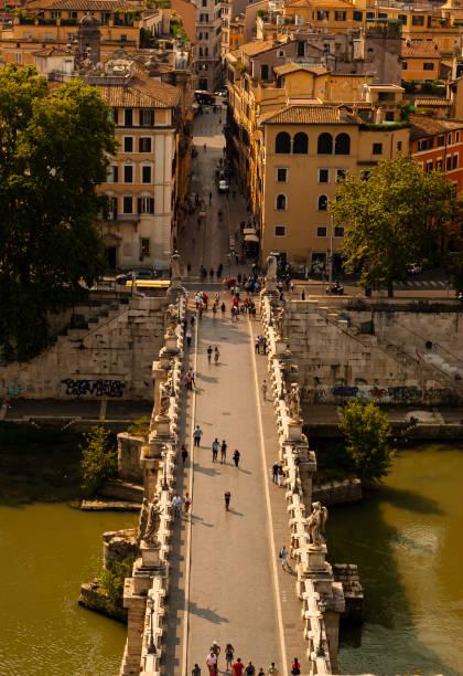 Sant'Angelo bridge seen from above - foto stock