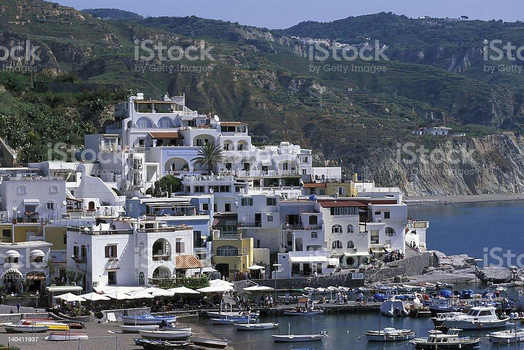Sant'Angelo village in southern coast of Ischia royalty-free stock photo