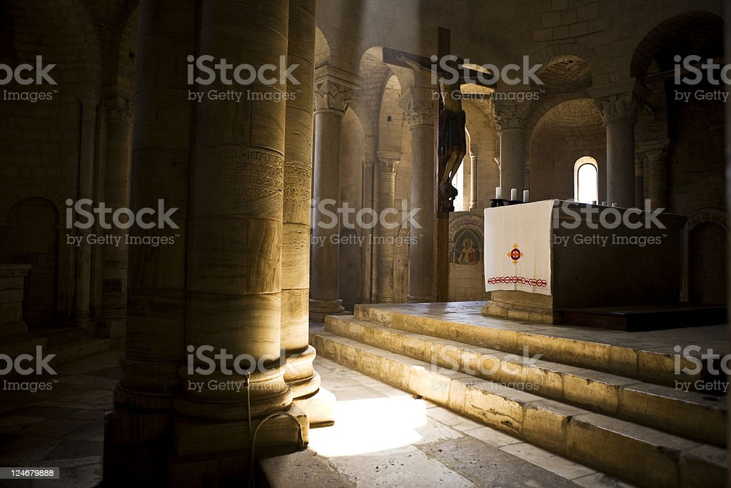 Sant'Antimo Abbey. Color Image royalty-free stock photo