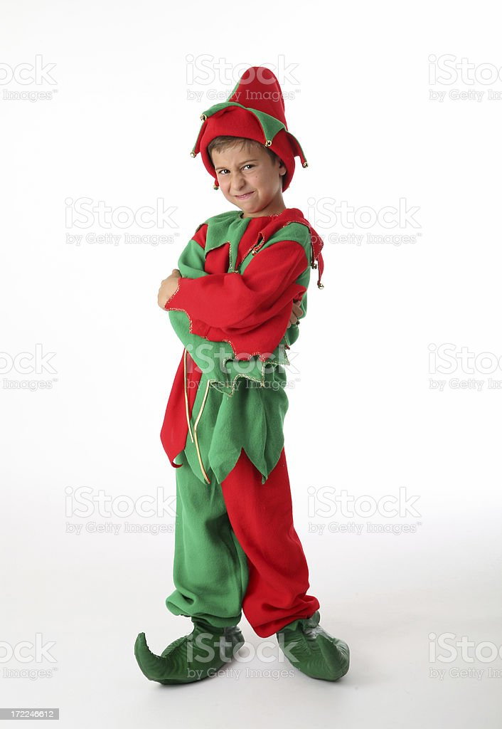 santa's angry little helper royalty-free stock photo