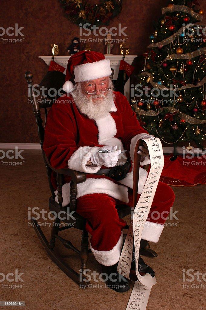 Santa's Checking His List stock photo