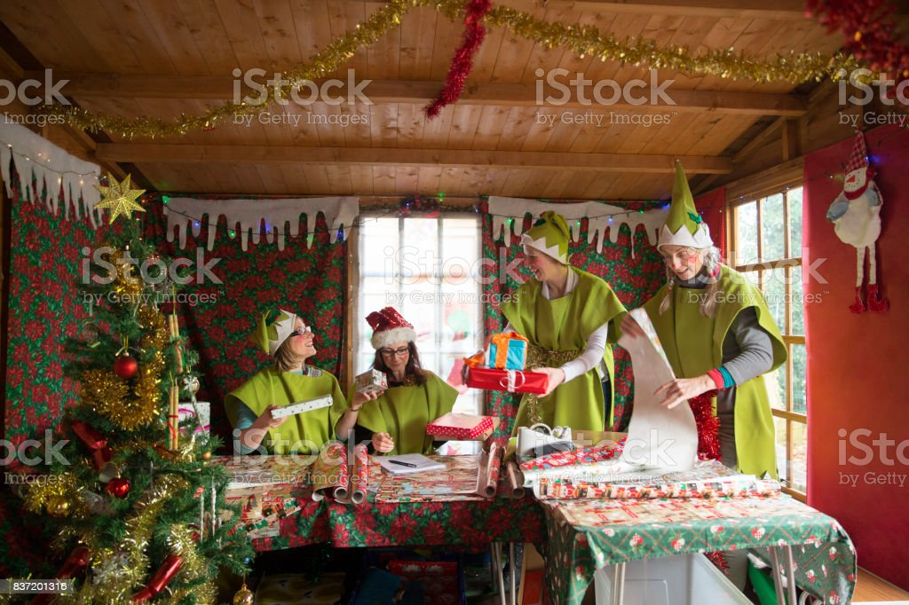 Santa's Grotto stock photo