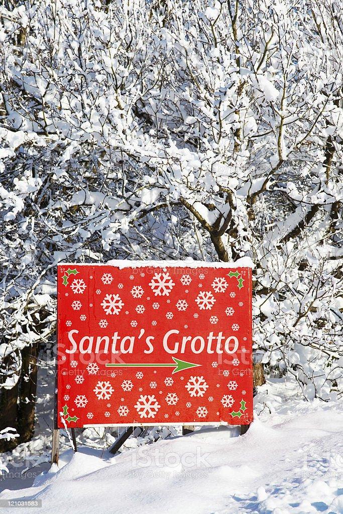 Santas grotto sign stock photo