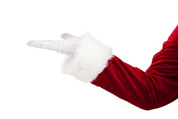 Santas Hand Is Extended Ready For Product Placement stock photo