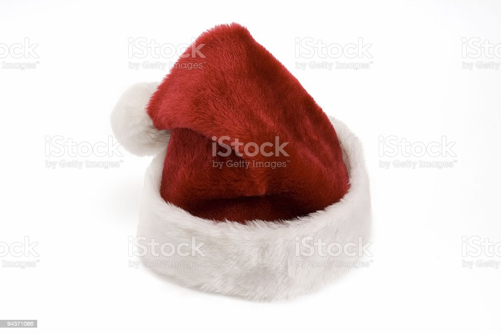 Santa's hat isolated on white royalty-free stock photo