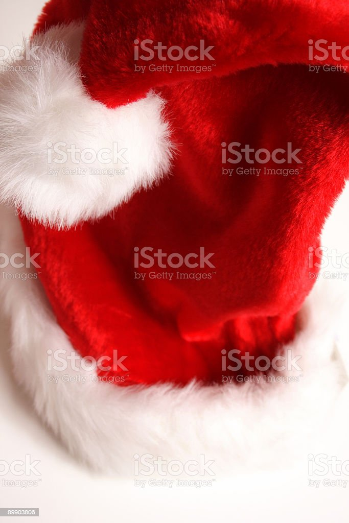 santa's hat on white  royalty-free stock photo