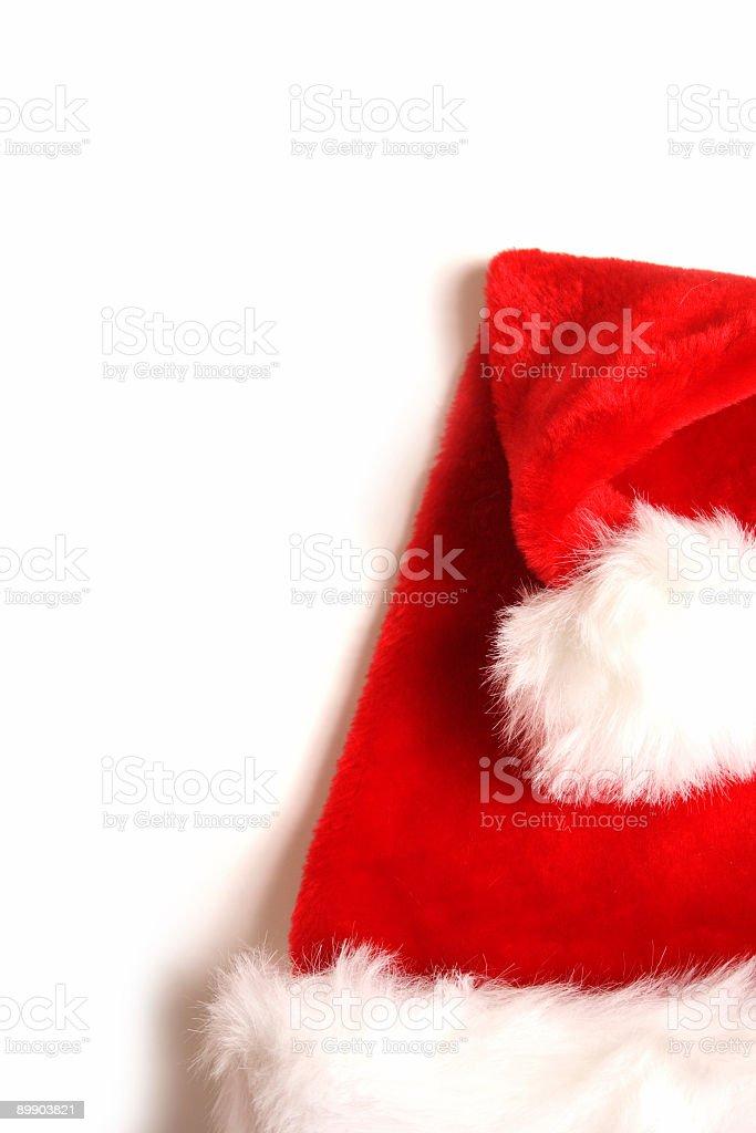 santa's Mütze auf Weiß Lizenzfreies stock-foto