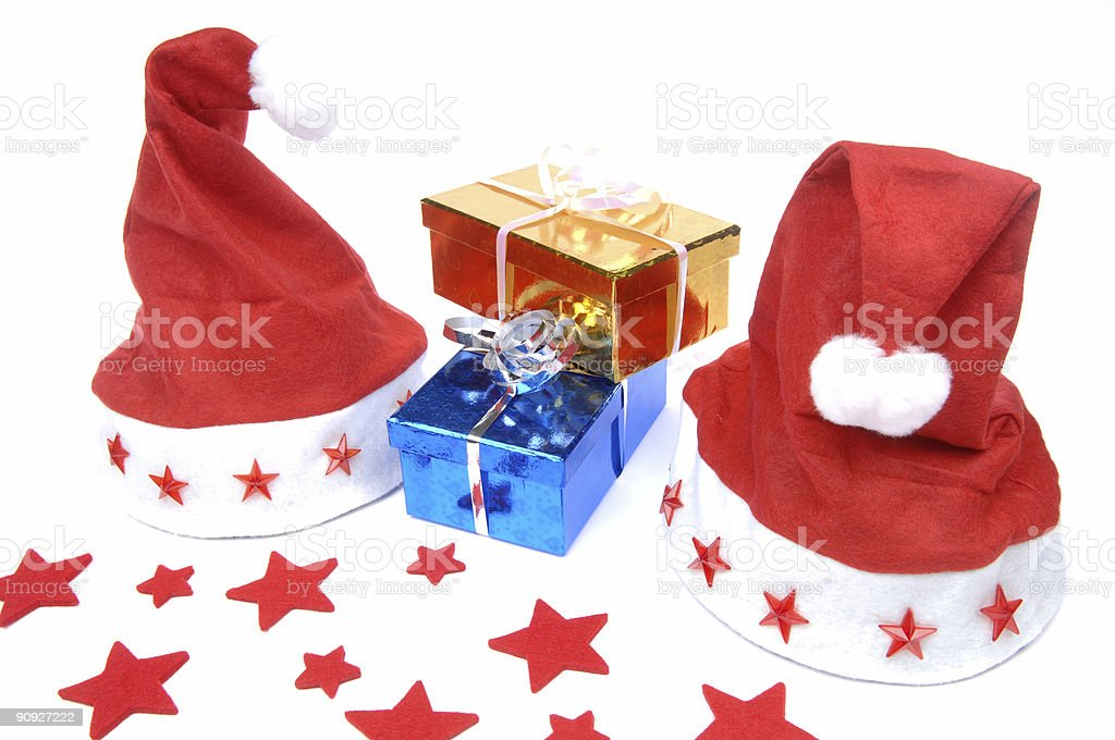 Santa´s Hat with presents royalty-free stock photo
