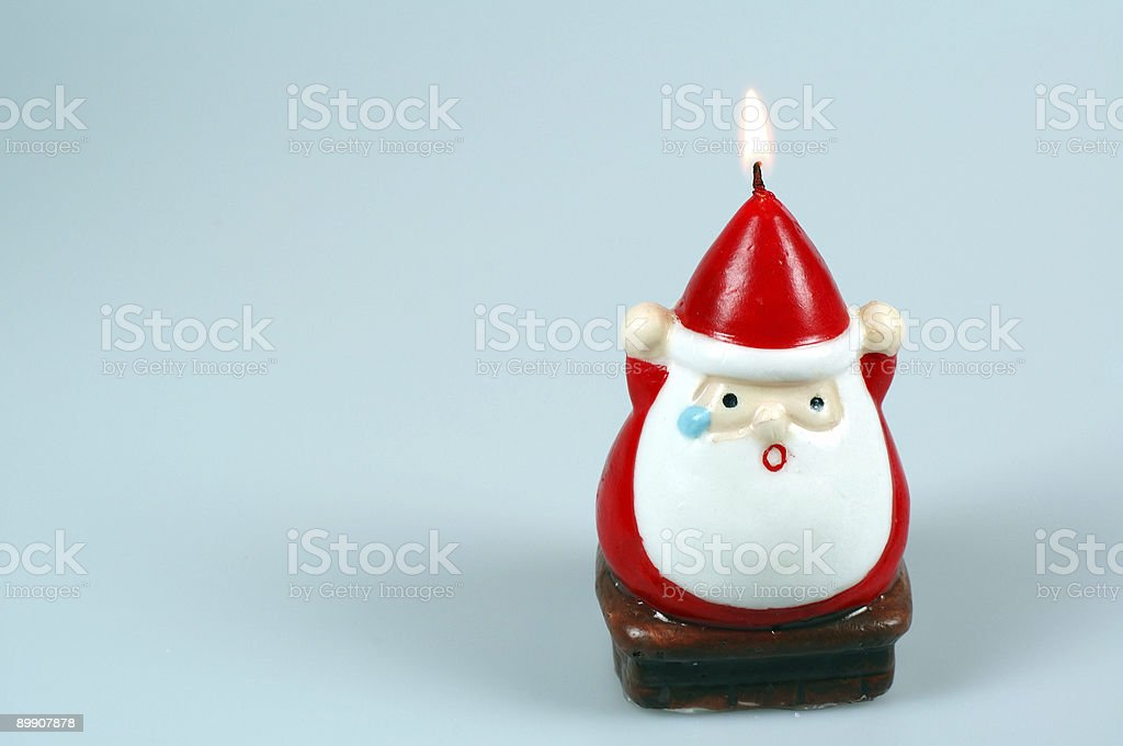Santa's head on fire royalty free stockfoto