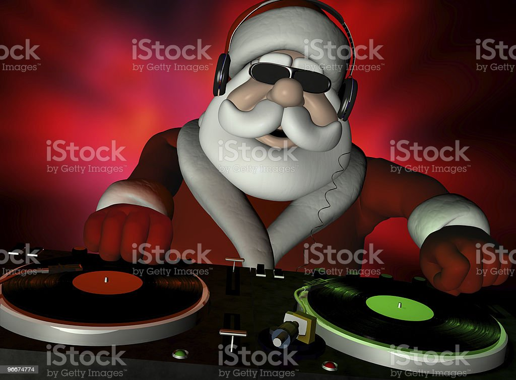 Santa's In Da House stock photo
