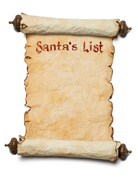 santa's list - weihnachts wunschliste stock-fotos und bilder
