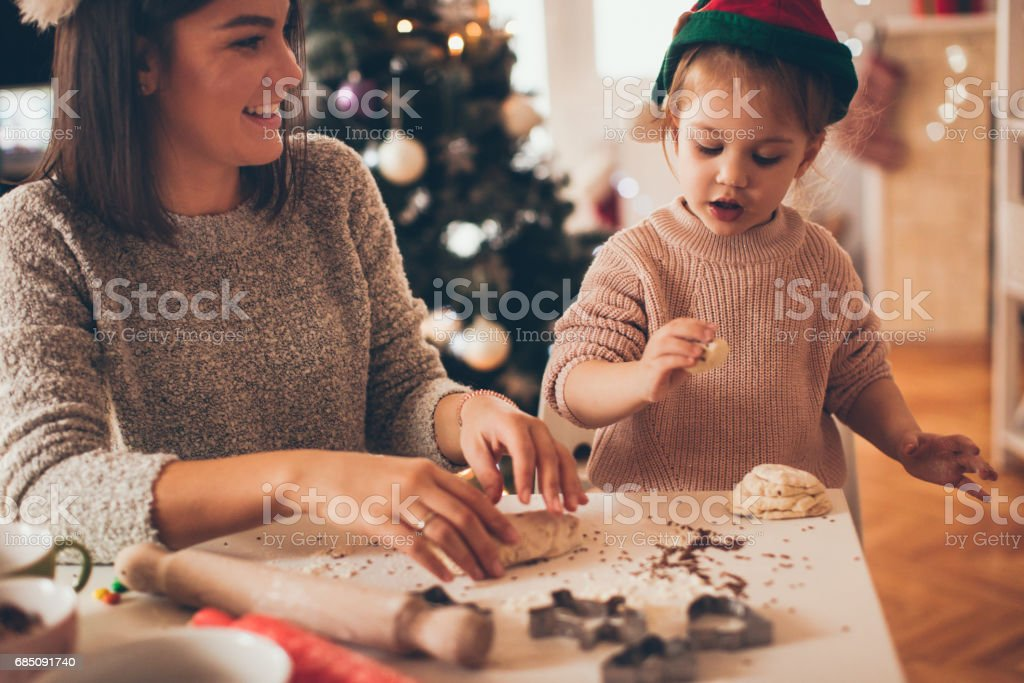 Santa's little helper stock photo