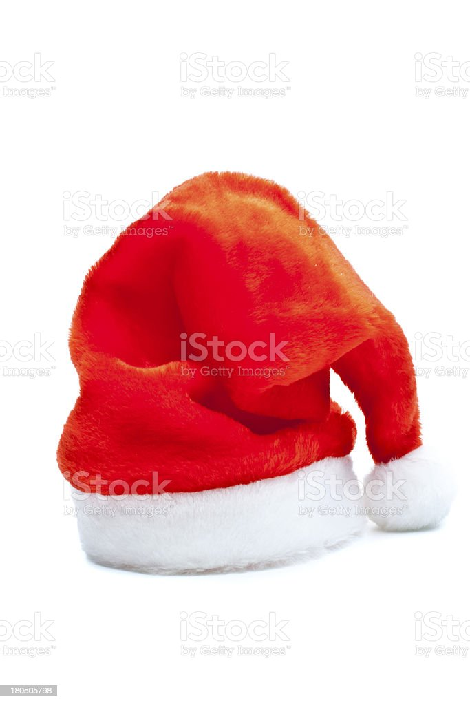 Santa's red hat isolated royalty-free stock photo