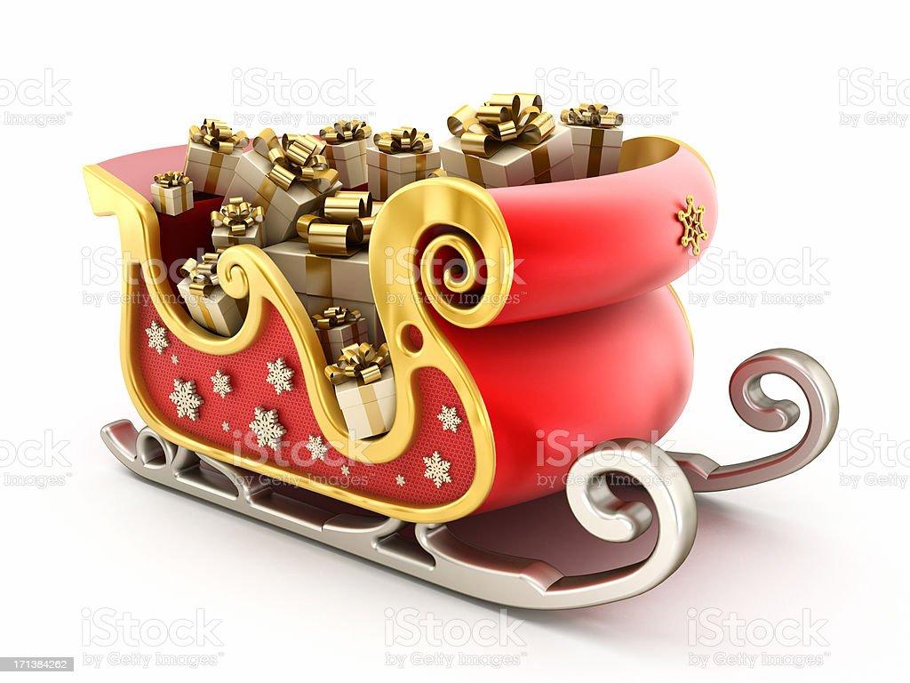 Santa's sleigh royalty-free stock photo