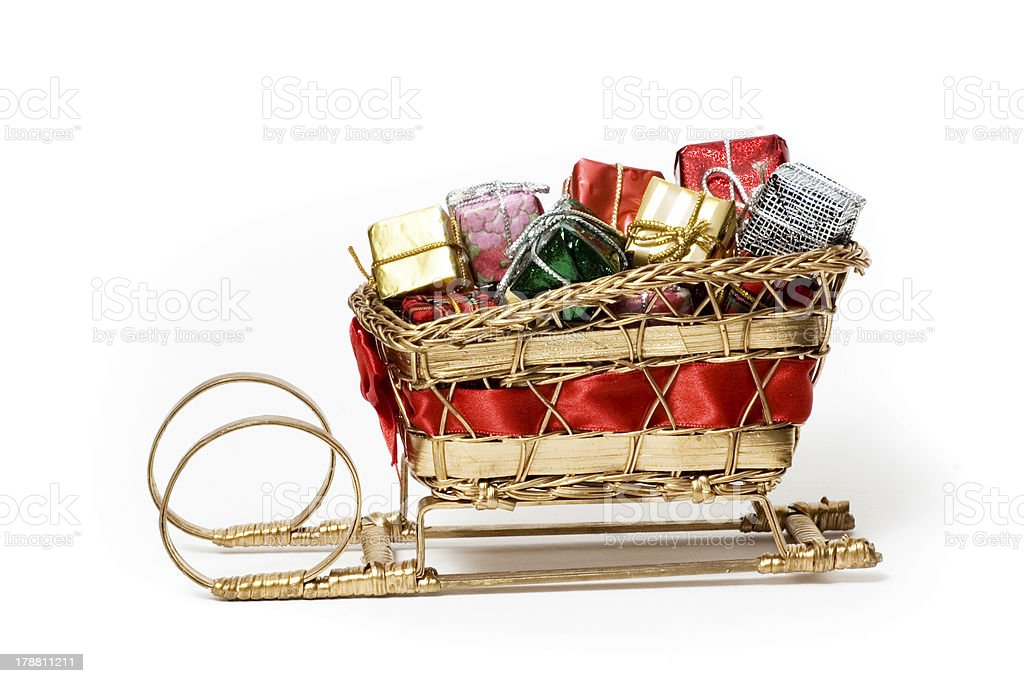 Santa's Sleigh royalty-free stock photo