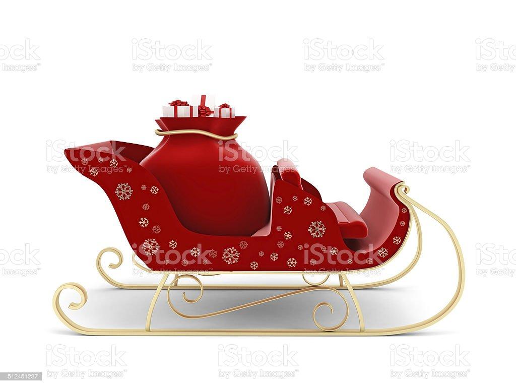 Christmas santa sleigh 04 Royalty Free Vector Image