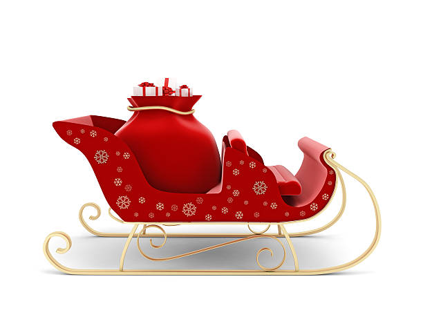 Santa's sleigh Santa's sleigh sleigh stock pictures, royalty-free photos & images