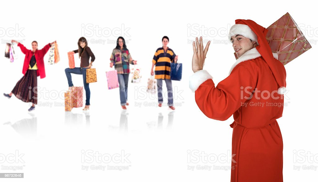 Santa's team royalty free stockfoto