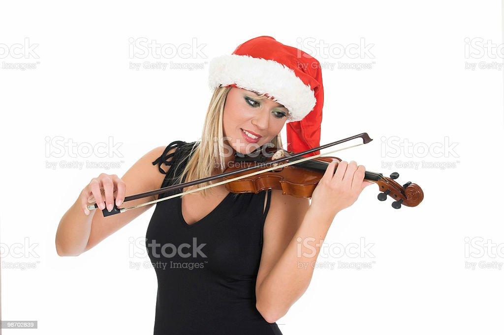 Santa di violino foto stock royalty-free