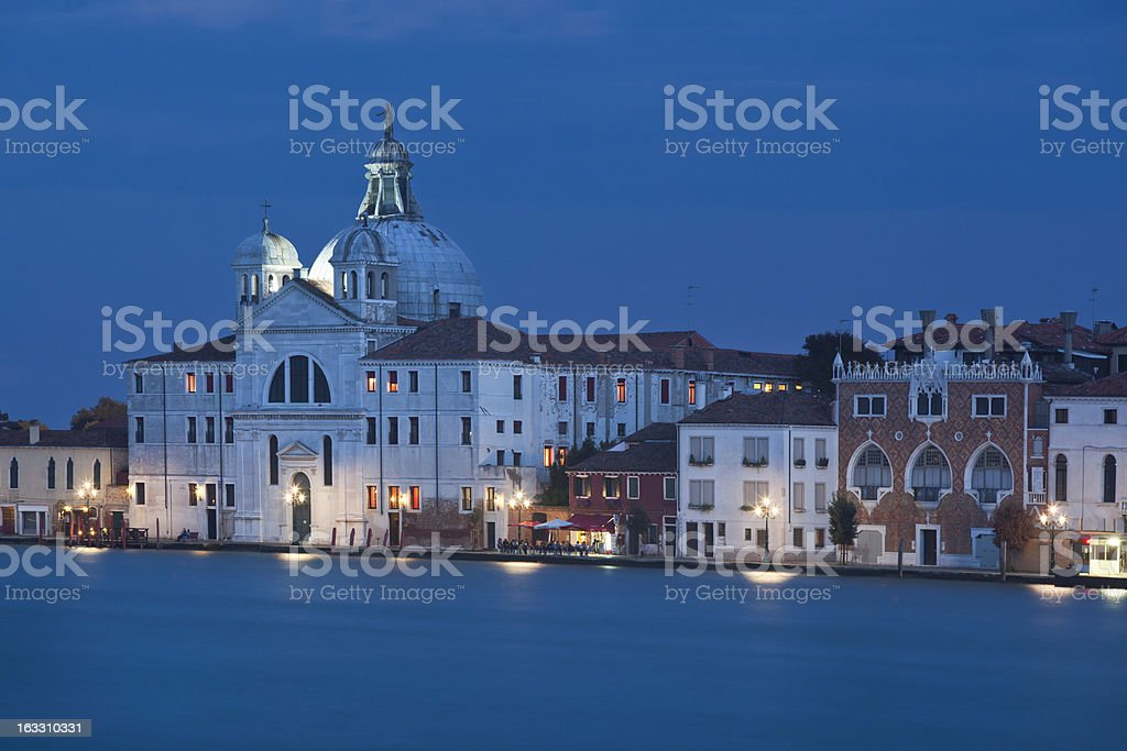 Sant'Eufemia on Canale della Giudecca, Venice, Italy royalty-free stock photo